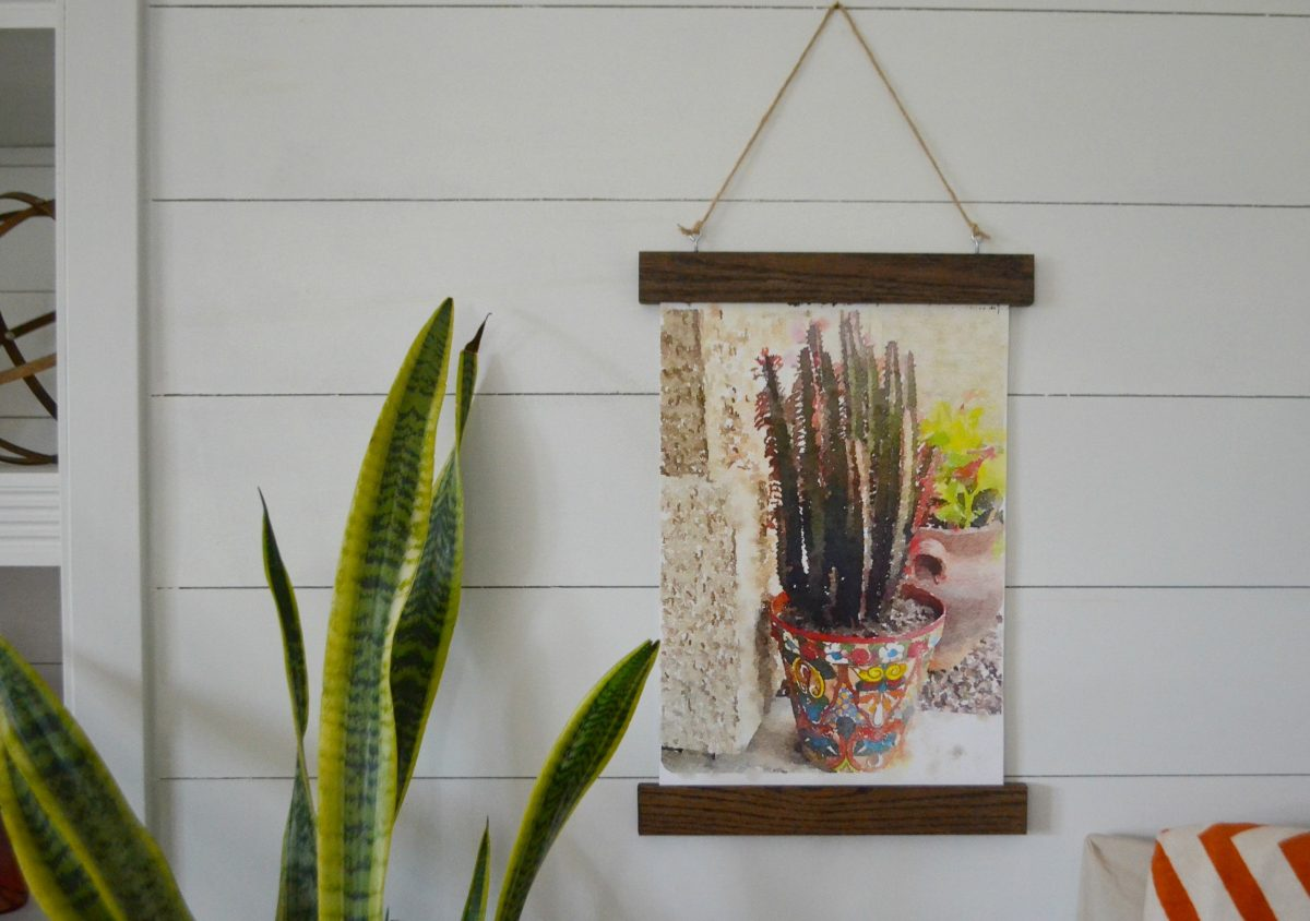 hanging poster frame of wood