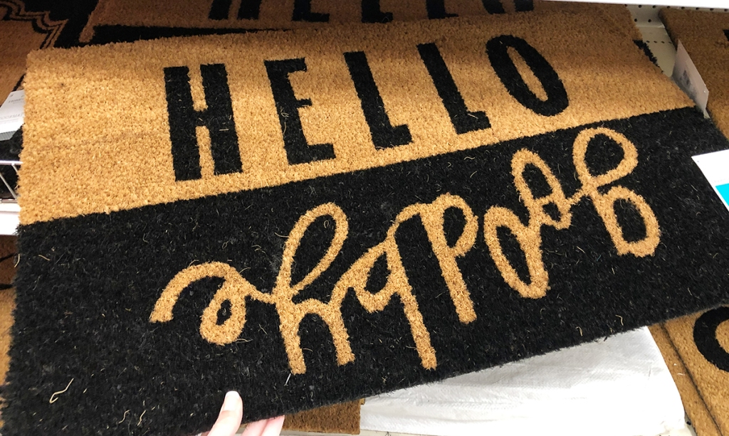 target accent pieces — hello goodbye doormat