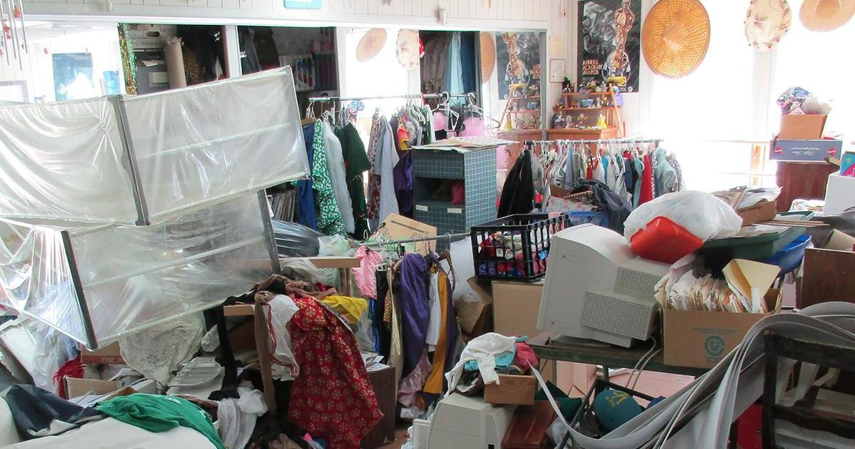 hoarders room with tons of stuff everywhere
