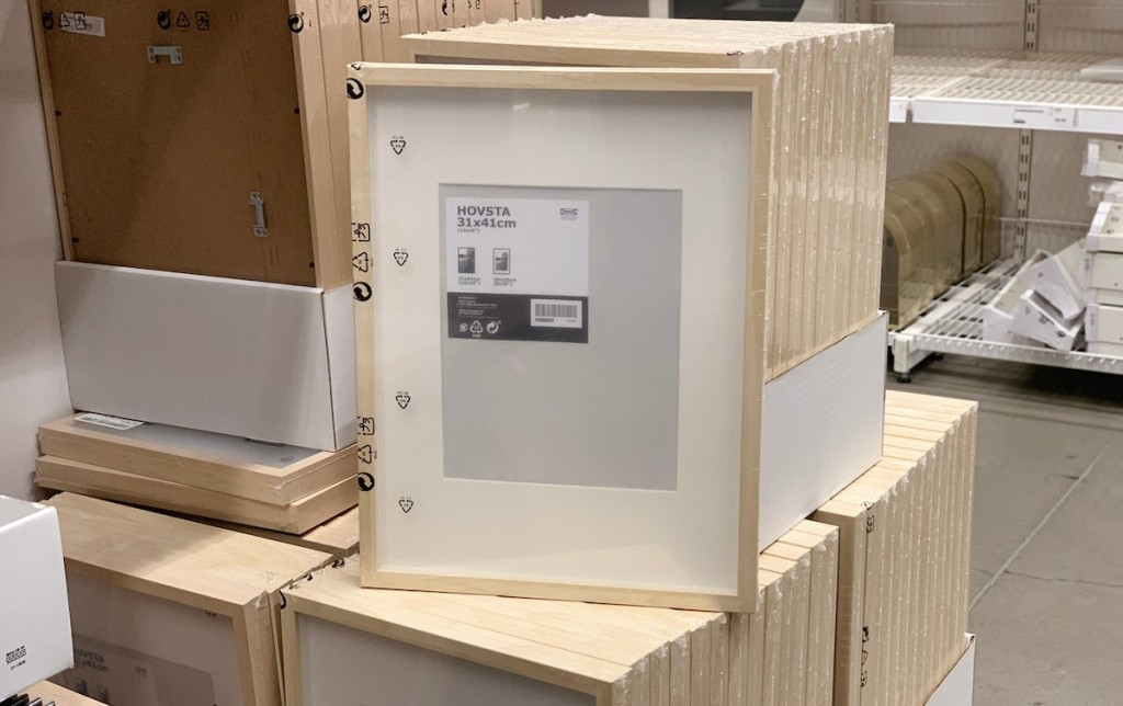 packs of hovsta picture frames in store