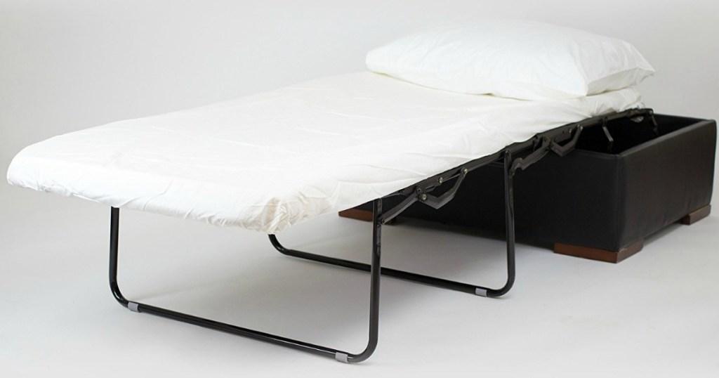 iBED Convertible Ottoman Guest Bed in Dark Espresso Color