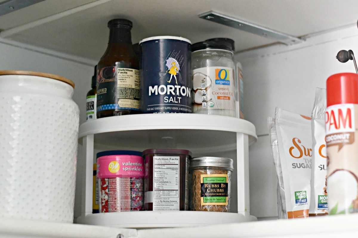 lazy susan for pantry organizing spices and small items