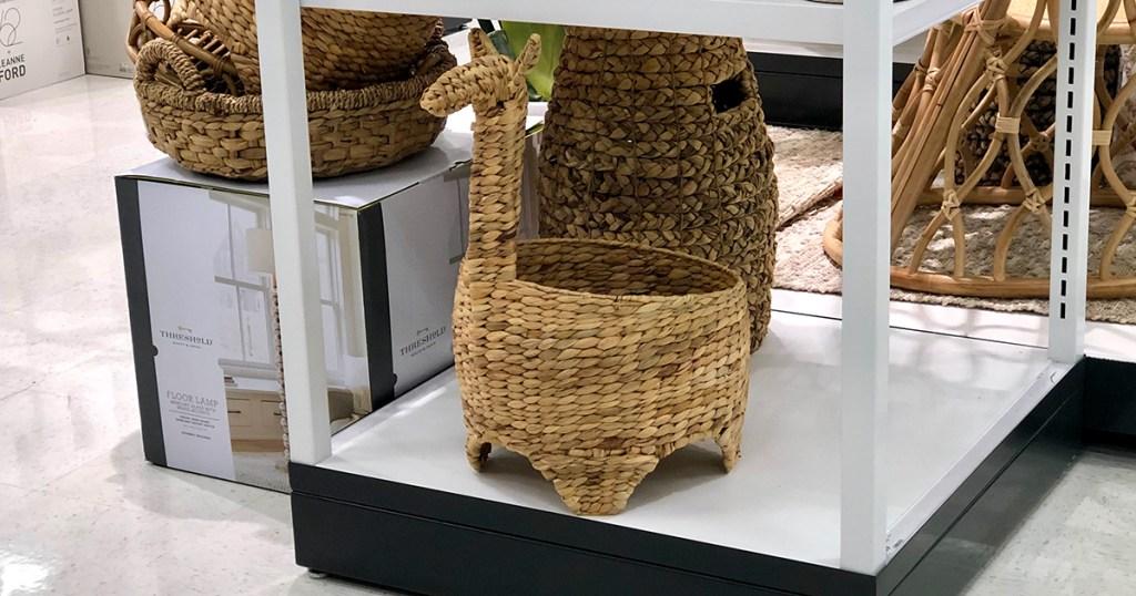 llama shaped basket at target