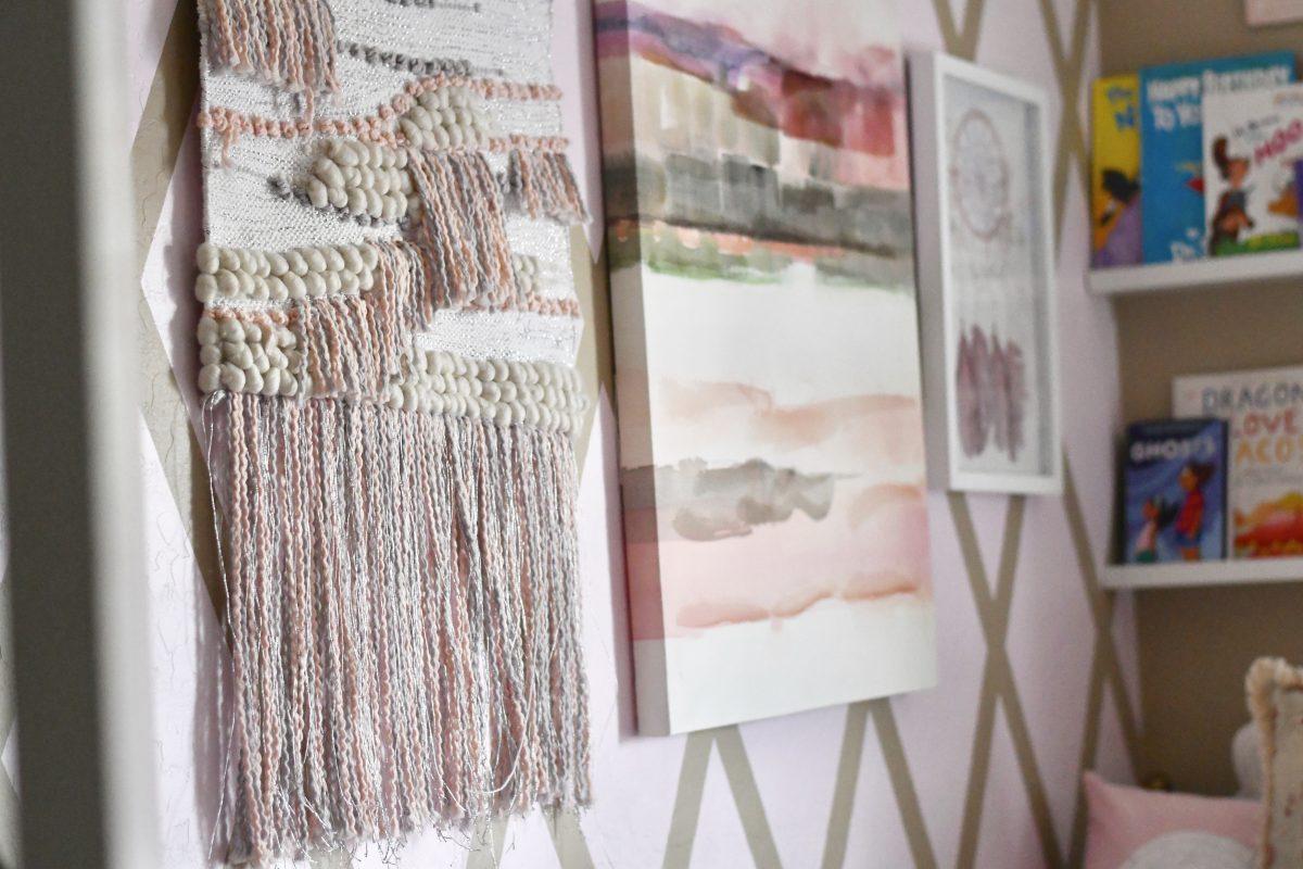 boho style wall art girls room