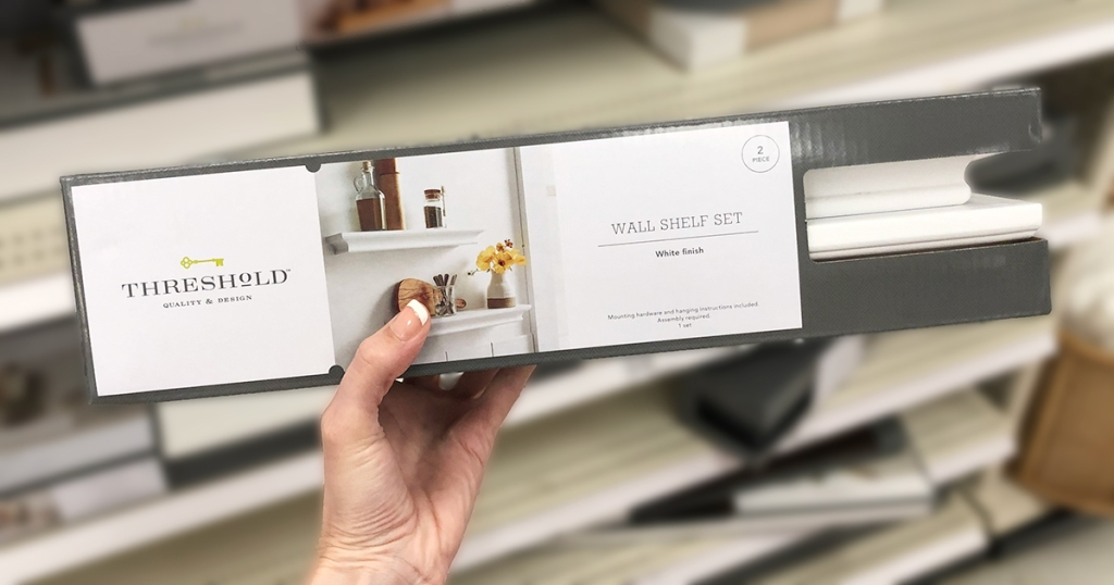 target wall decor — threshold 2 pack white traditional floating wall shelves