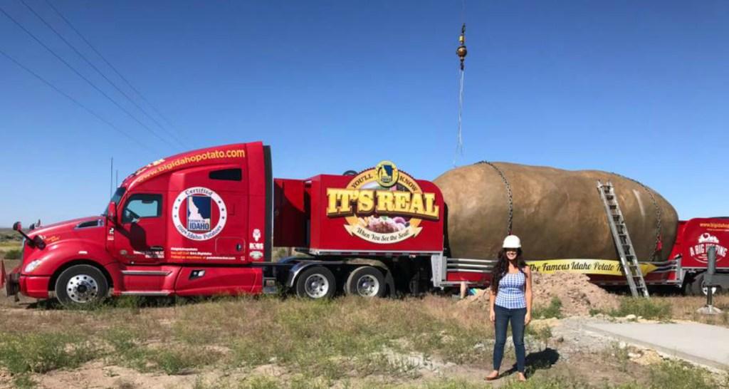Big Idaho Potato Hotel on a semi truck