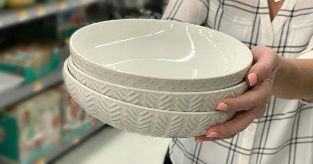 Farmhouse bowls at Walmart
