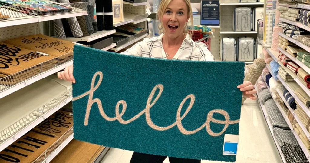 Hello Doormat at Target