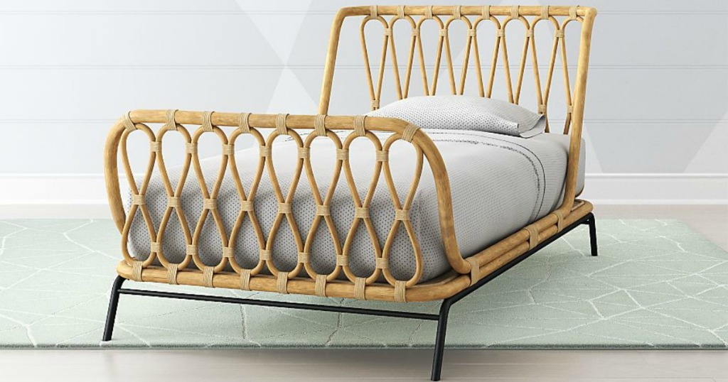 Crate and Kids Rattan Kid's Bed, twin