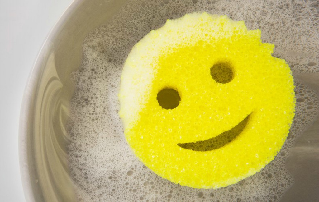 Scrub Daddy sponge in water