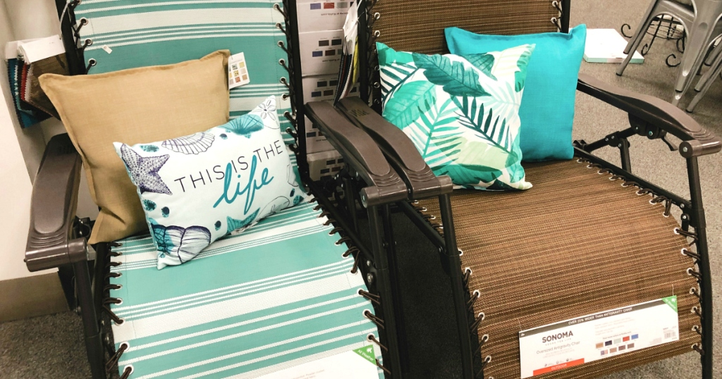 Sonoma Antigravity chair with pillows at Kohl's