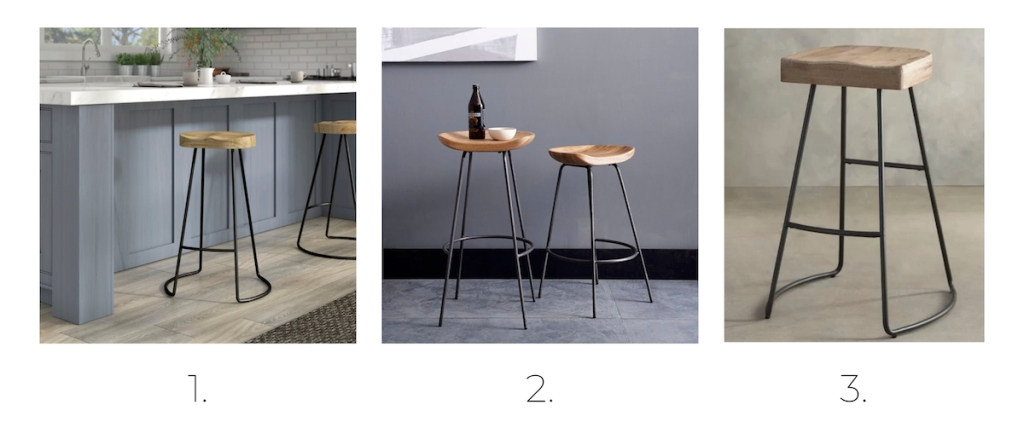 three wood and iron barstools counter stool options styled in kitchen and gray painted rooms