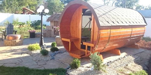 Don't Sweat It! These DIY Backyard Barrel Saunas from Amazon Include Free Delivery