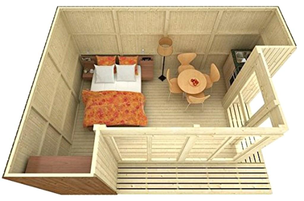 Allwood Arlanda 180 sq. ft. Garden House Kit