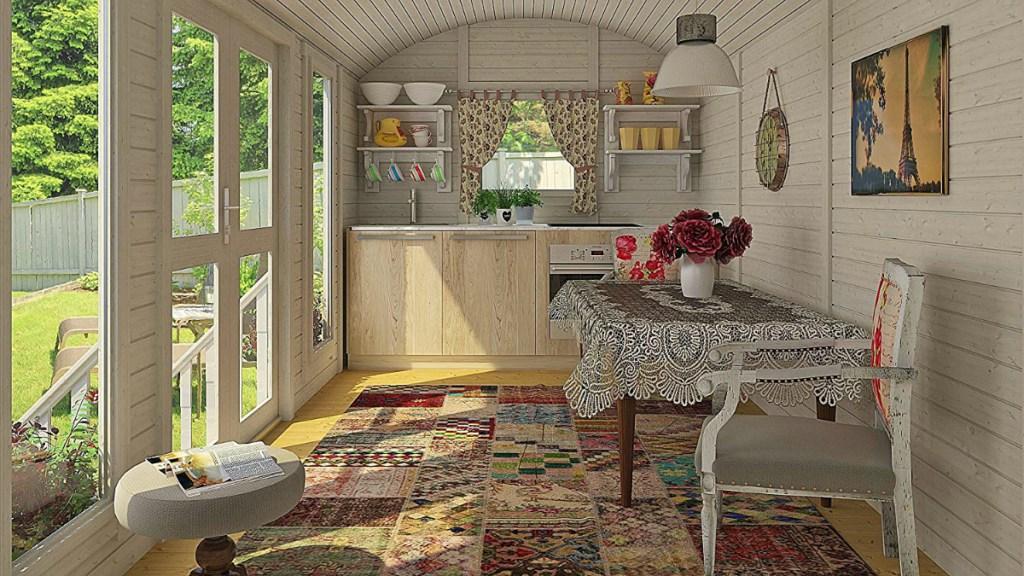Allwood Mayflower 117 sq. ft Garden House Cabin Kit