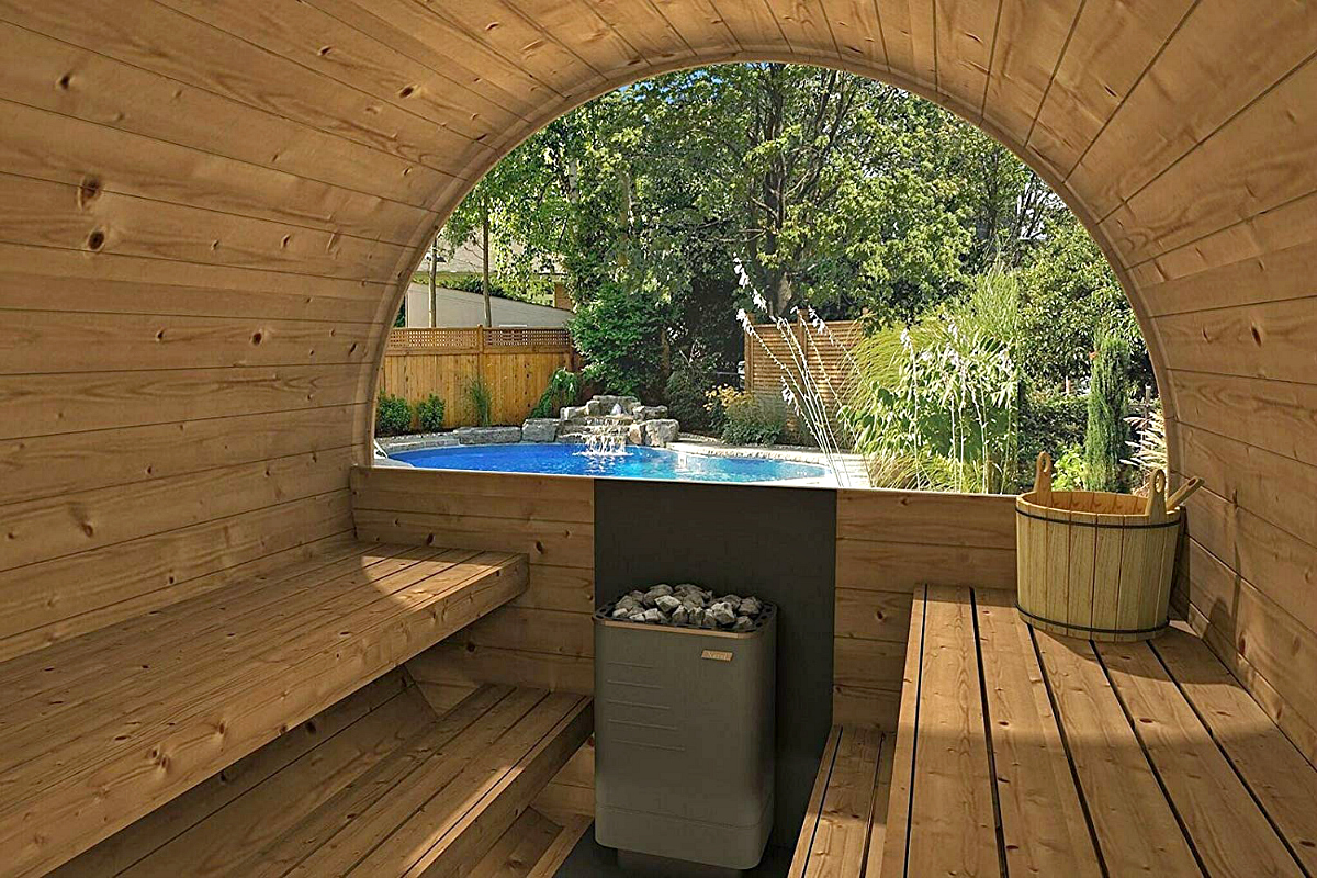 Allwood barrel sauna on Amazon