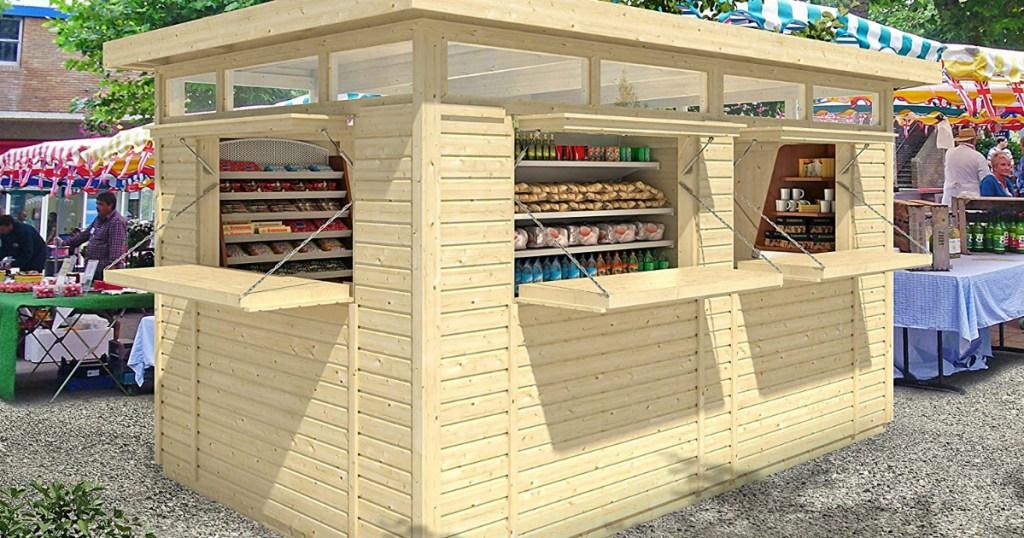 Allwood outdoor bar retail kiosk on Amazon