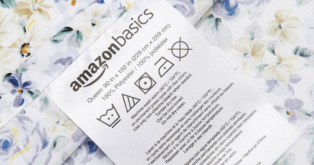 amazonbasics sheet label