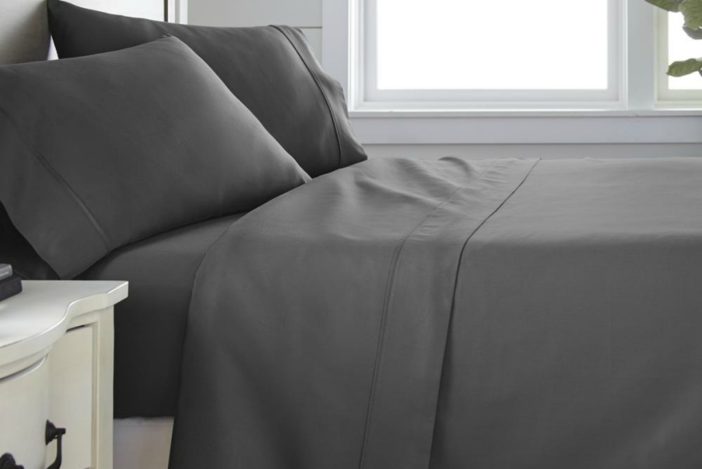 Becky Cameron Performance 6-Piece Bed Sheet Set - Gray