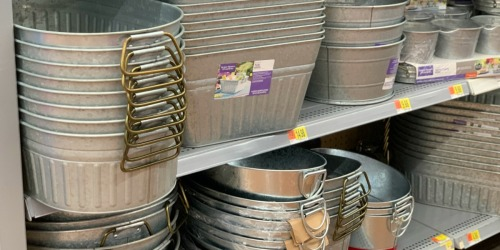 We Love the Large Selection of Galvanized Metal Storage Items at Walmart