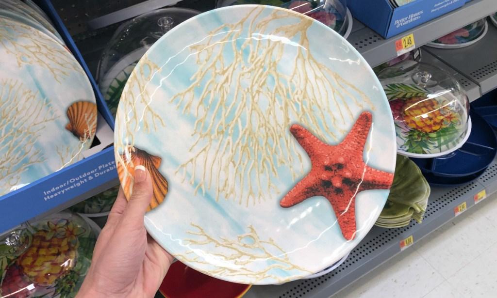 Better Homes & Gardens Sea Life Melamine Dinner Plate