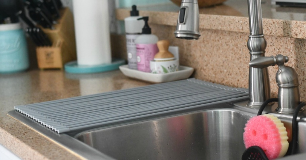 Clean kitchen countertop and sink