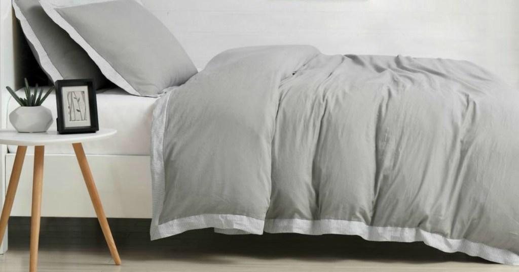 Grey Cotton Linen Bedding