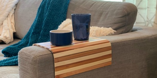 Short on Space? This Couch Arm Tray is the Perfect Solution for No Side Tables