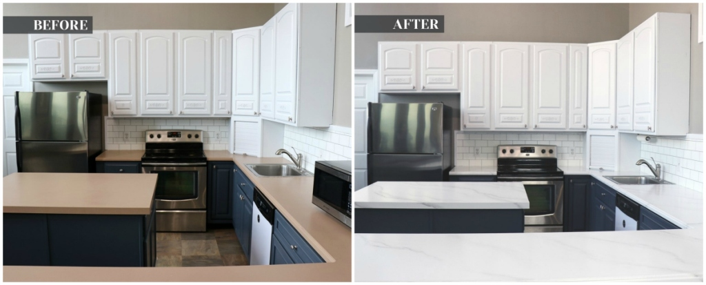 Countertop paint before after pictures