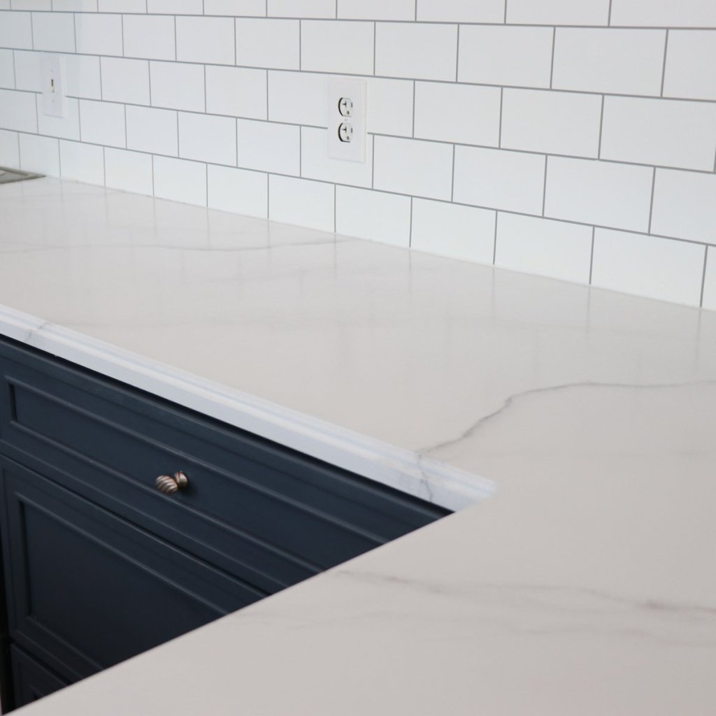 Countertop with paint