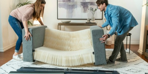 This Foldable Sofa is Small Enough to Come in the Mail & Assembles in UNDER 5 Minutes