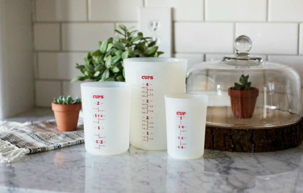 Flexible Liquid Measuring Cups - Set of 3