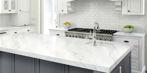 Have Outdated Countertops? This DIY Faux Marble Paint Kit Will Transform Your Kitchen for Under $90