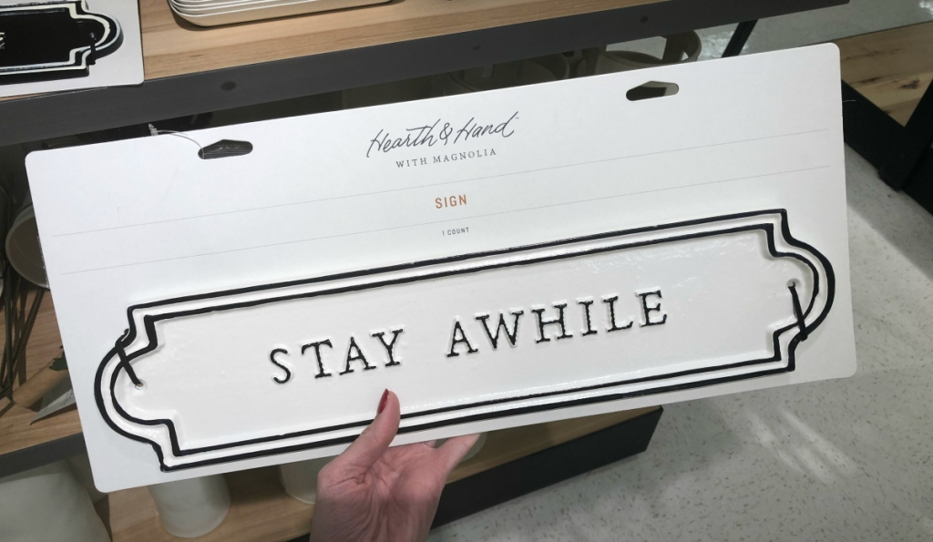 Hearth & Hand with Magnolia _Stay Awhile_ Sign