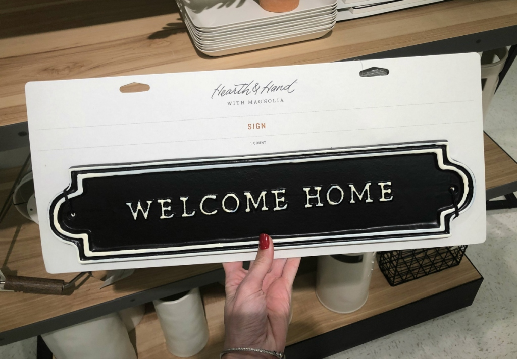 Hearth & Hand with Magnolia _Welcome Home_ Sign