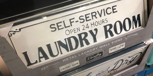 Metal Laundry Room Signs on Clearance at Sam's Club