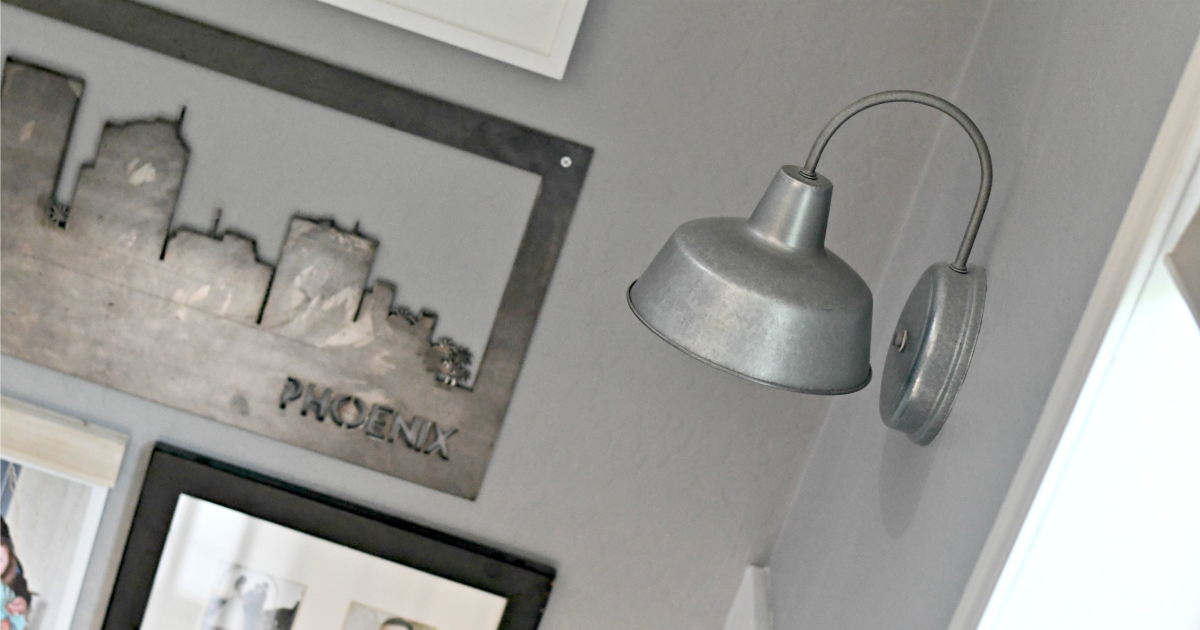 inexpensive Lowe's outdoor wall sconce indoors
