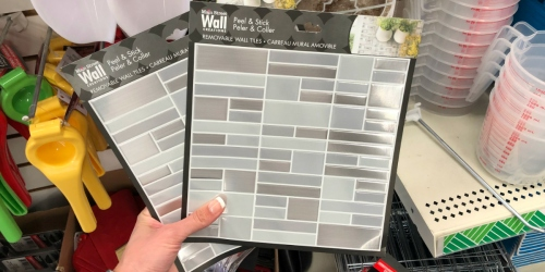 Dollar Tree Sells DIY Peel & Stick Backsplash Tiles for ONLY $1