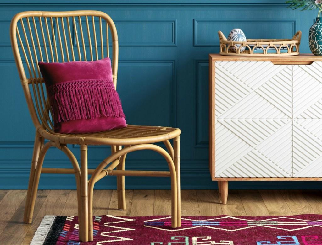 Opalhouse Hazel Rattan Armless Chair