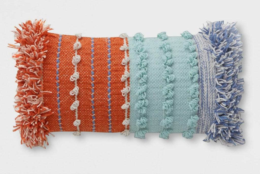 Opalhouse Lumbar Chunky Woven Outdoor Pillow