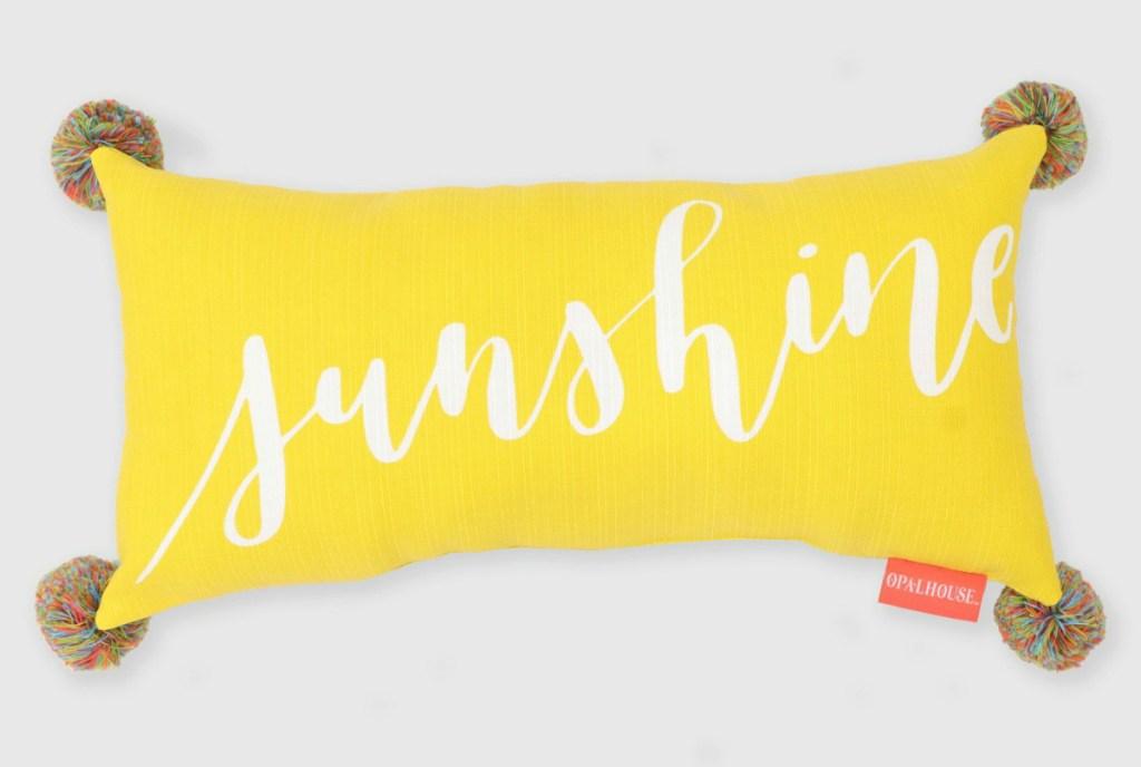 Opalhouse Lumbar Sunshine Outdoor Pillow