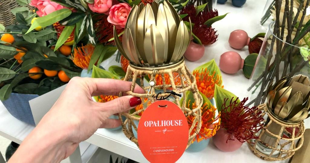 Opalhouse Pineapple Shaped Pillar Candle Holder Lantern