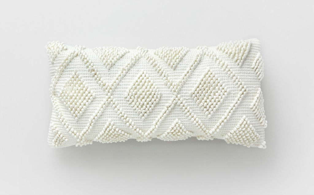 Threshold Square Looped Diamonds Outdoor Pillow