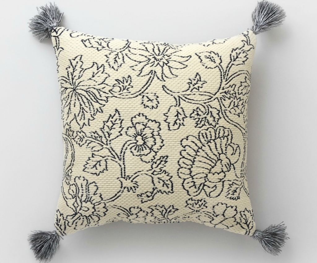 Threshold Square Vintage Floral Outdoor Pillow