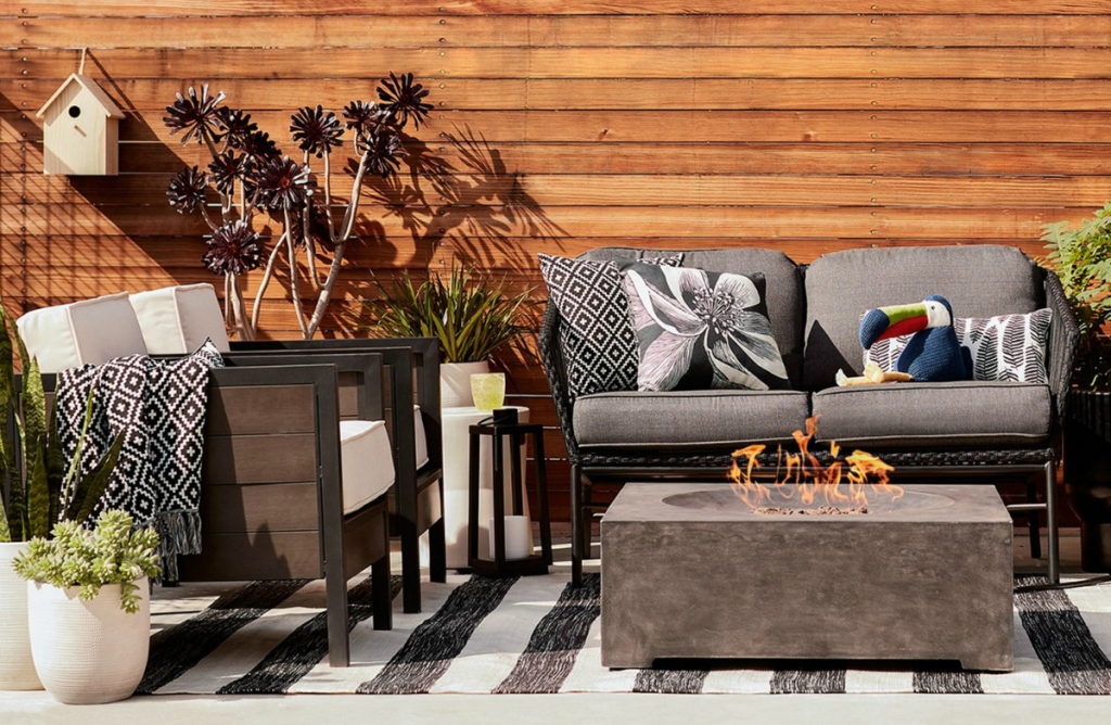 Threshold Worn Stripe Outdoor Rug