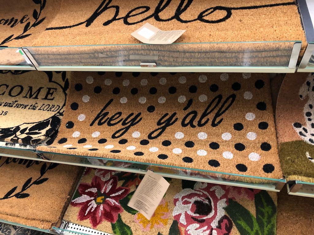doormats at Hobby Lobby