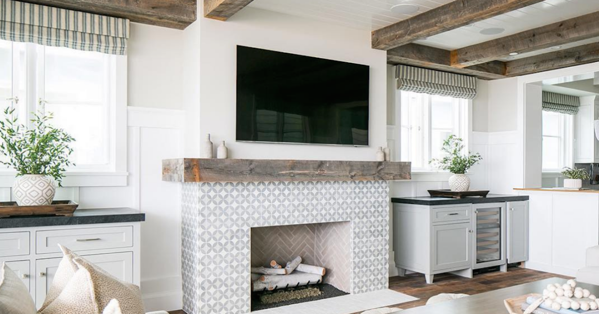Debate: Should Your TV Go Over Your Fireplace? (Plus the Perfect Compromise!)