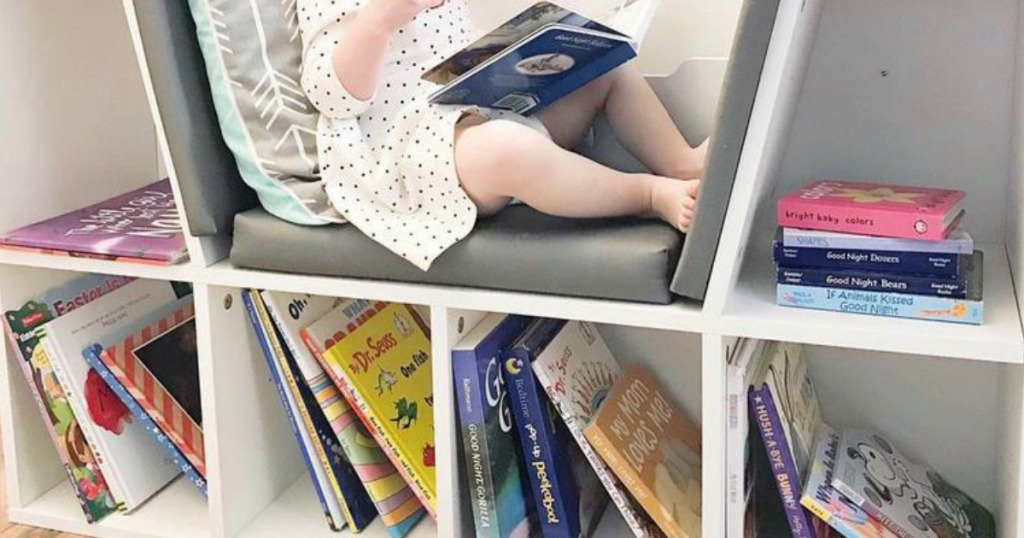 6-Cubbie Kids Bookcase w/ Reading Nook