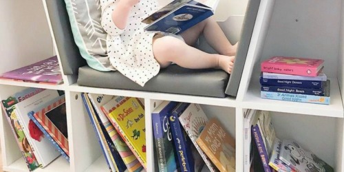 This Multipurpose Kids Bookcase Includes a Reading Nook AND It's Only $72.99 Shipped