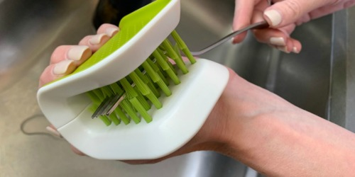 This Knife & Cutlery Cleaning Brush is Magical & Under $7